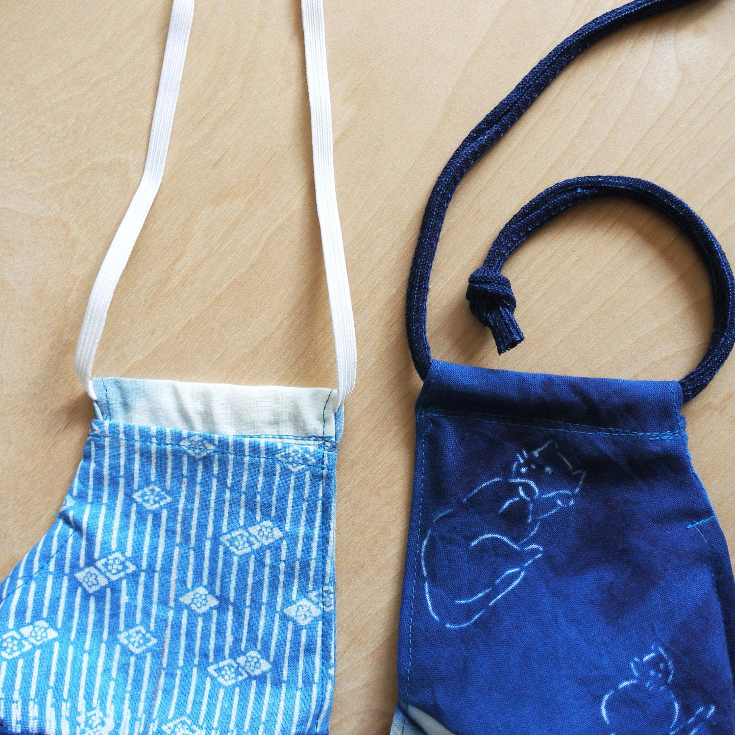 Face Mask, reusable natural dye cotton mask with adjustable straps, filter pocket, reversible, nose wire. Soft cotton. Handmade in the USA.