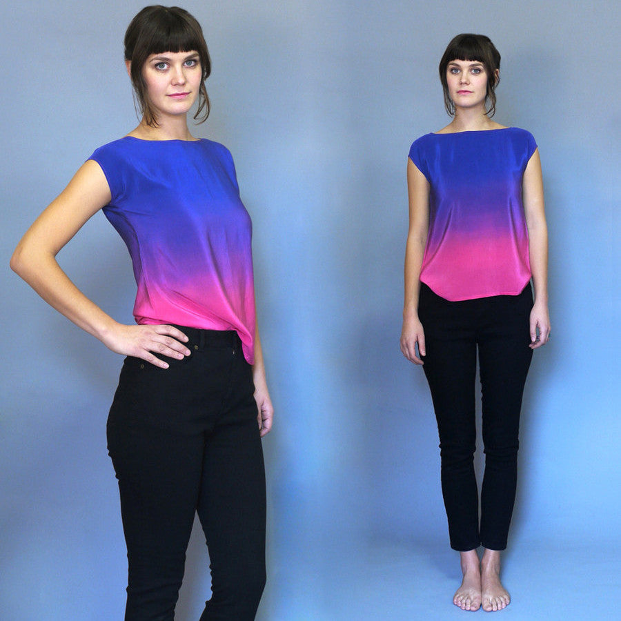 ROTHKO ONE.  ombre silk top