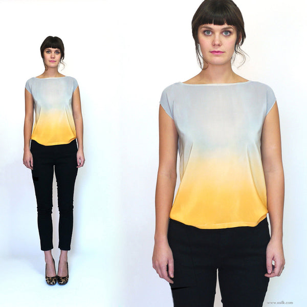 ROTHKO TWO. ombre silk top
