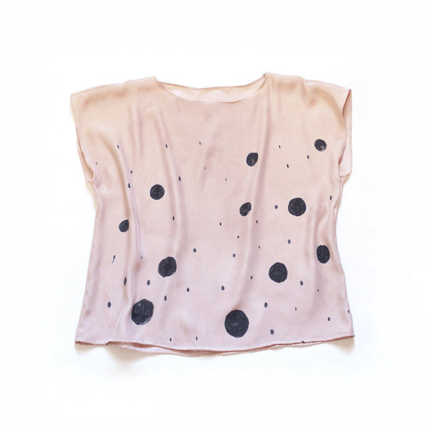 BLUSH.  natural dye silk blouse