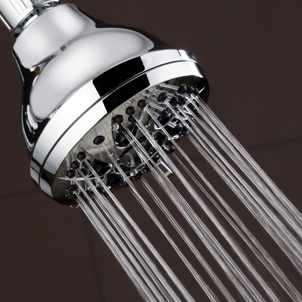 AquaDance® 3301 Premium Shower Head featuring 3.5-inch Chrome Face and 6 Full Water Spray Settings
