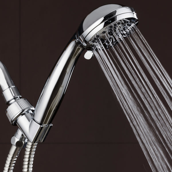 "AquaDance® 3312 High Pressure 6-Setting 3.5"" Chrome Face Handheld Shower with Hose for the Ultimate Shower Experience! Officially Independently Tested to Meet Strict US Quality & Performance Standards"