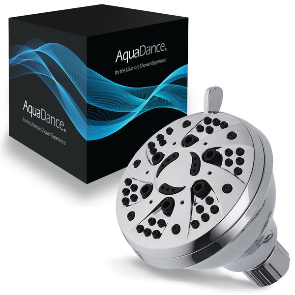 AquaDance® 3301 All-Chrome Finish High-Pressure 6-setting Shower Head for Maximum Power. Enjoy 2.5 gpm Spiral High Performance Luxury even under Low Water Pressure!