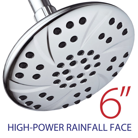 AquaDance® 3309 Premium Rainfall Shower Head featuring Extra-Large 6-inch Chrome Face