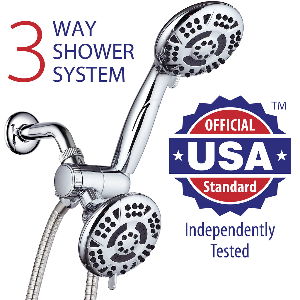 HIgh-Power Multi-Function Shower Head with Handheld Showerhead ...
