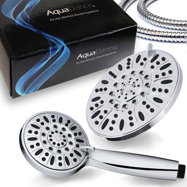 AquaDance® 3328 Ultra-Luxury 30-Setting 3-Way Shower Heads Combo featuring 6-Setting 7-inch Chrome Face Rain Shower Head and 6-Setting 4-Inch Chrome Face Handshower