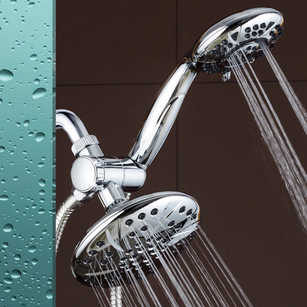 AquaDance® 3329 Ultra-Luxury 30-Setting 3-Way Shower Heads Combo featuring 6-inch Chrome Face Rain Shower Head and 6-Setting 4.15-Inch Chrome Face Handshower