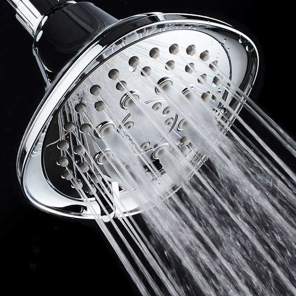 AquaDance® 3374 Hot Oval Square Style! 6-setting High-Pressure Luxury Shower Head. Angle Adjustable, Solid Brass Connection Nut, All-Chrome Finish. Premium Quality Exclusive Showerhead from Top American Manufacturer