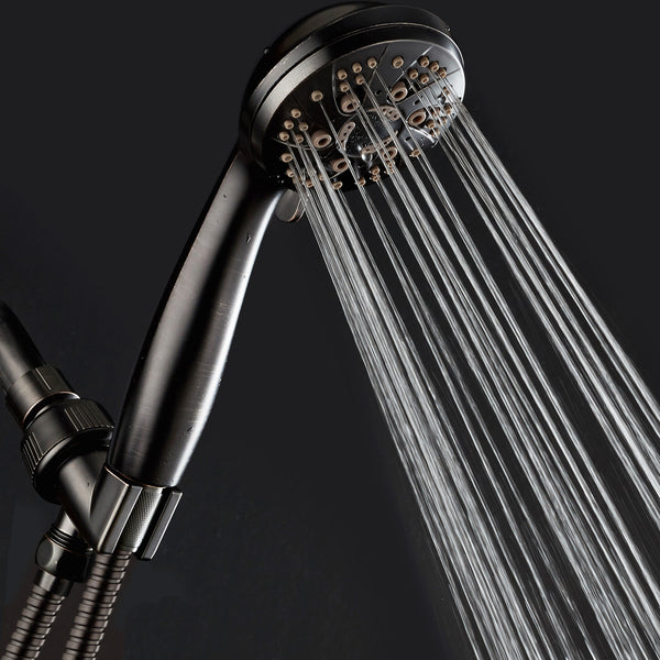 AquaDance® 7312 High Pressure 6-Setting Oil Rubbed Bronze Handheld Shower with Hose for the Ultimate Shower Experience! Officially Independently Tested to Meet Strict US Quality & Performance Standards!