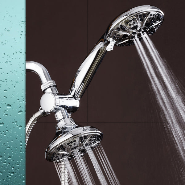 "AquaDance® 3324 Giant 5"" 30 Mode All Chrome 3-way High Power Combo. Use Shower Head & Handheld Separately or Together! Officially Independently Tested to Meet Strict US Quality & Performance Standards!"