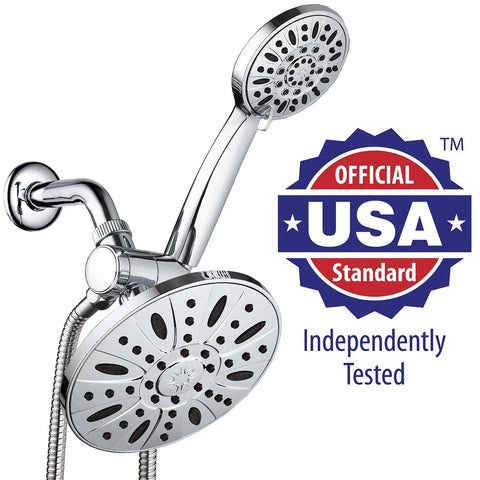 AquaDance® 3327 Ultra-Luxury 30-Setting 3-Way Shower Heads Combo featuring 7-inch Chrome Face Rain Shower Head and 6-Setting 4-Inch Chrome Face Handshower