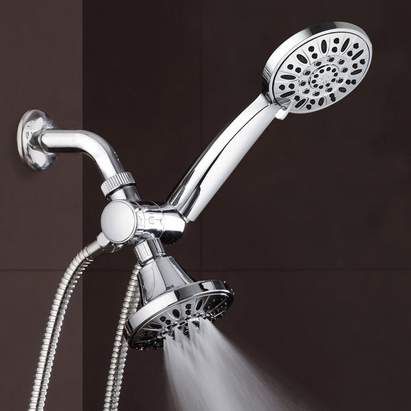 AquaDance® 3323 Total Chrome Premium High Pressure 48-setting 3-Way Combo for The Best of Both Worlds – Enjoy Luxurious 6-setting Rain Shower Head and 6-Setting Hand Held Shower Separately or Together
