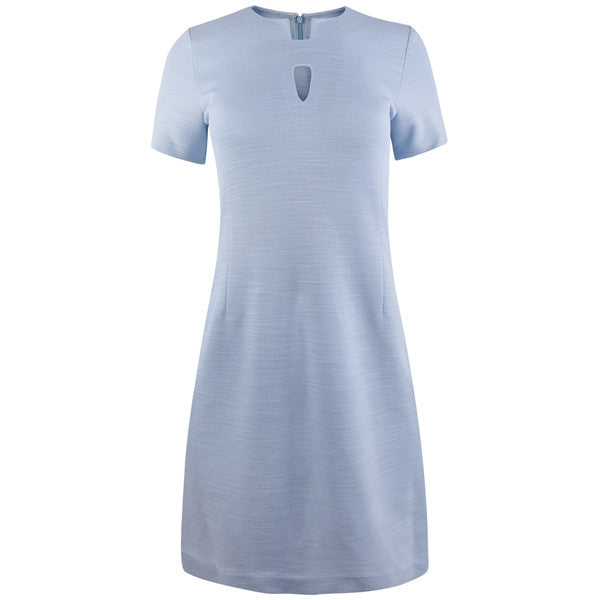 Split Keyhole Knit Dress in Giorgio Blue