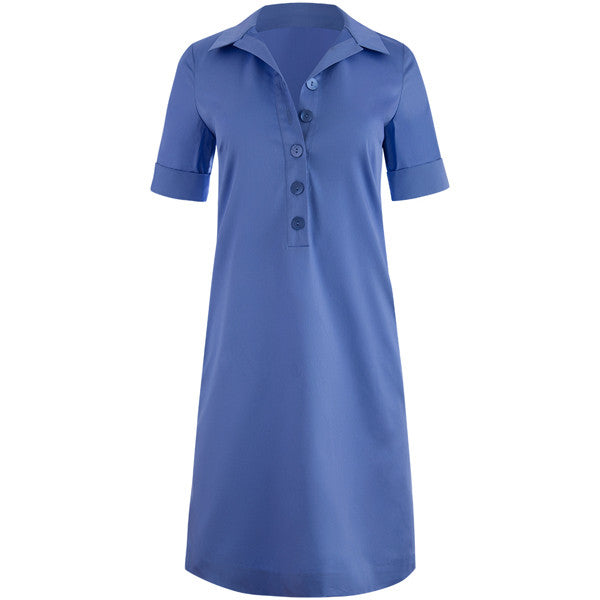 Tunic Shift Dress in Periwinkle