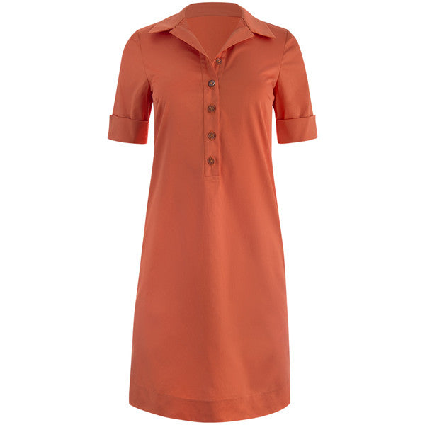 Tunic Shift Dress In Orange Leggiadro