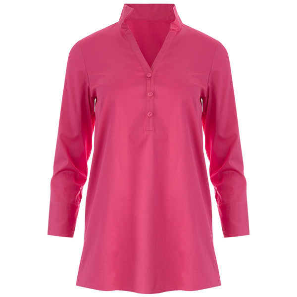 Polo Collar Tunic in Geranio