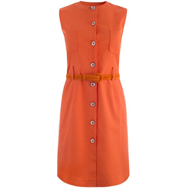 Sleeveless Jackie Shift Dress in Orange