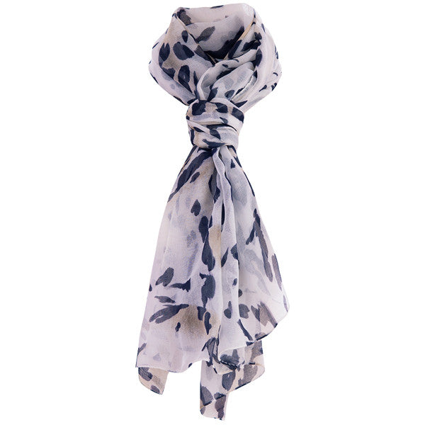 Printed Modal Cashmere Scarf in Leaping Leopard
