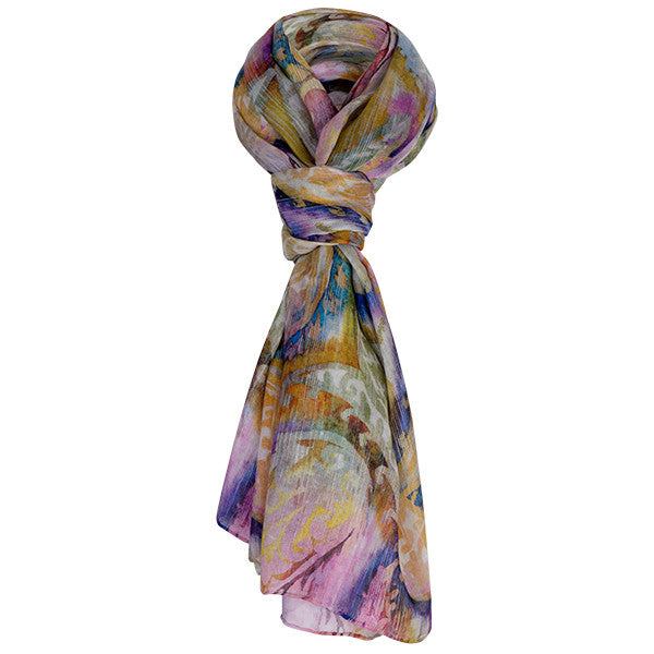 Printed Modal Cashmere Scarf in French Paisley