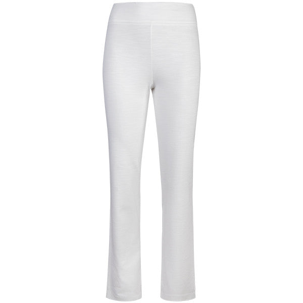 Cigarette-Leg Fiammato Pant in White