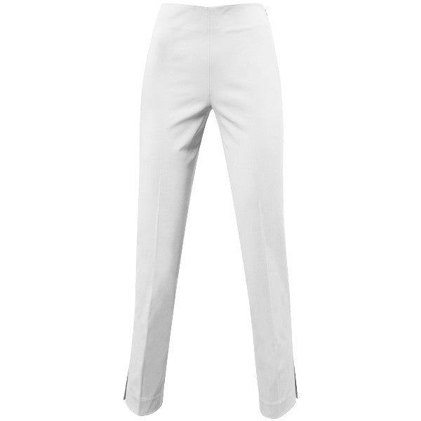 Classic Side Zip L/W Wool Pant in White