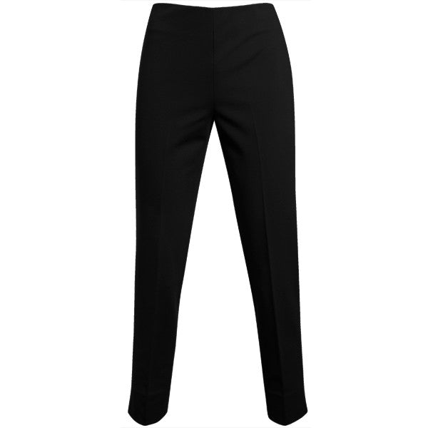 Viscose Knit Side Zip Pant in Black