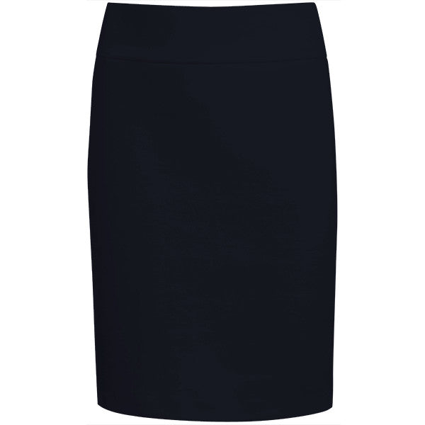 Cotton Knit Pull on Skirt in Navy