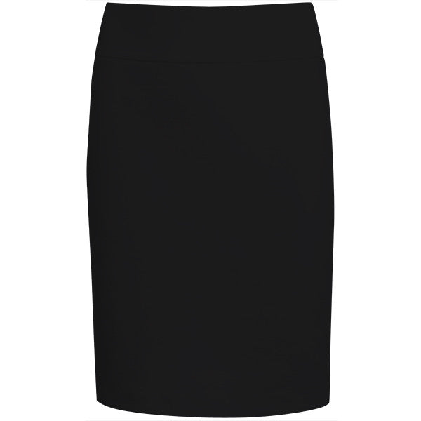Cotton Knit Pull on Skirt in Black