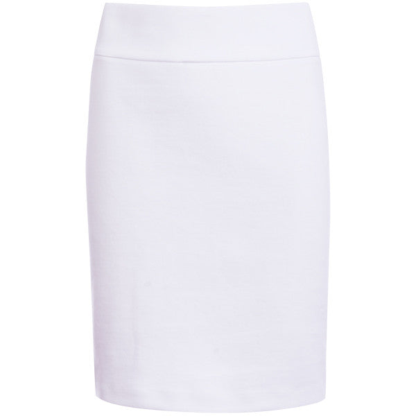 Cotton Knit Pull on Skirt in White
