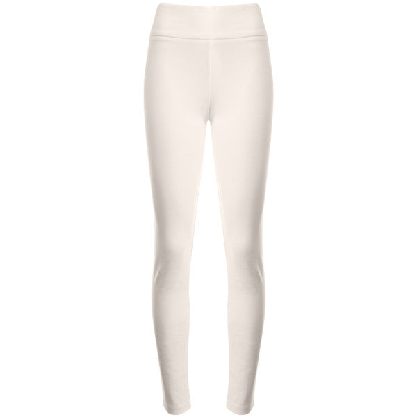 Cotton Knit Pull on Pant in Winter White