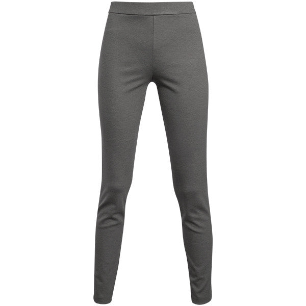 Melange Pull On Pant in Light Grey Melange