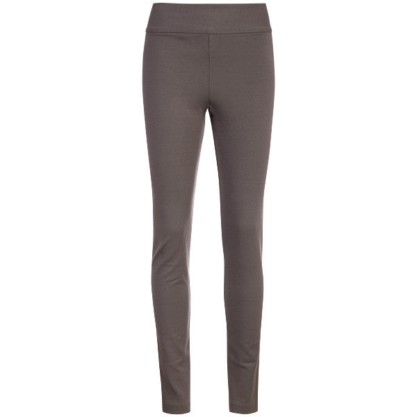 Cotton Knit Pull on Pant in Grey Brown