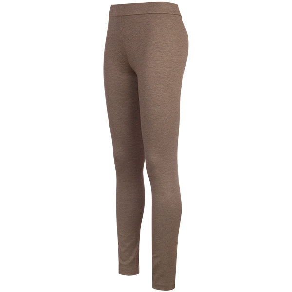 Melange Pull On Pant in Taupe Melange