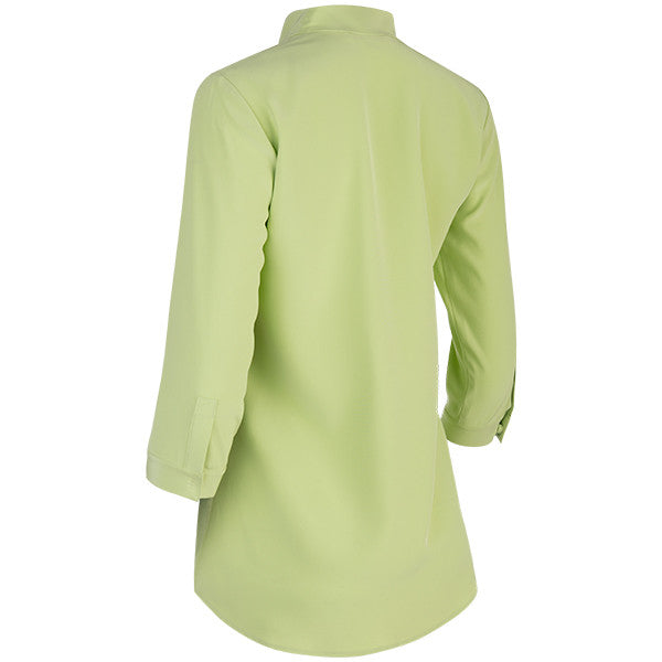 Inverted Notch Collar Tunic in Soft Green