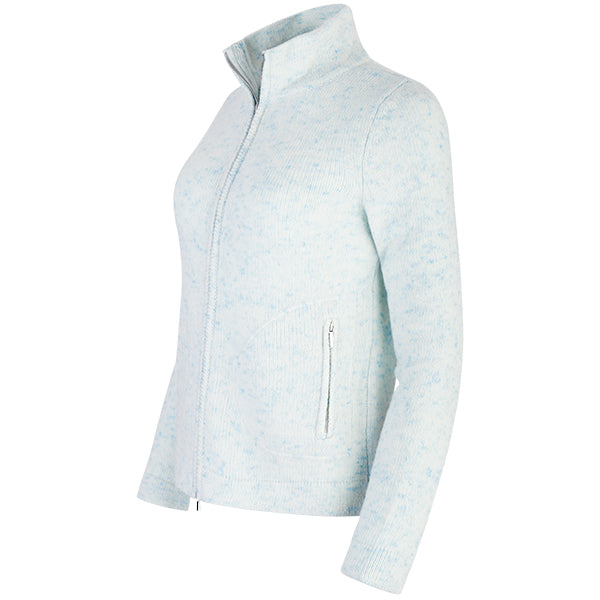 Yachting Zip Cardigan in Celeste