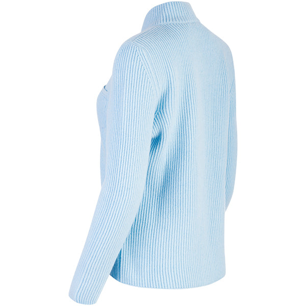 Double Collar Placket Blazer in Baby Blue