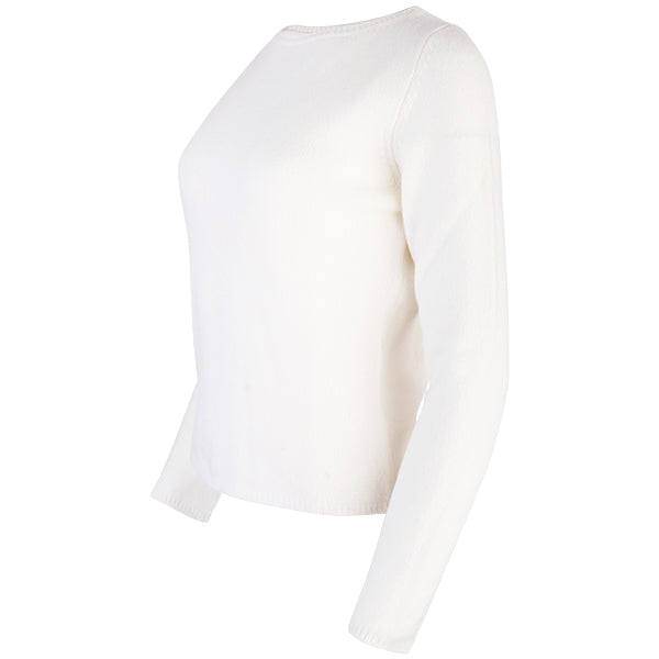 Crewneck Long Sleeve Pullover in White