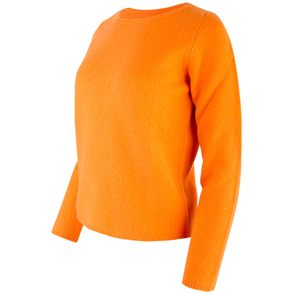 Crewneck Long Sleeve Pullover in Dark Orange