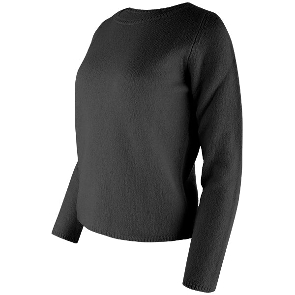 Crewneck Long Sleeve Pullover in Black