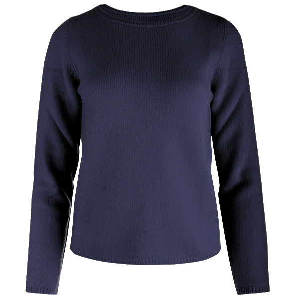 Crewneck Long Sleeve Pullover in Navy