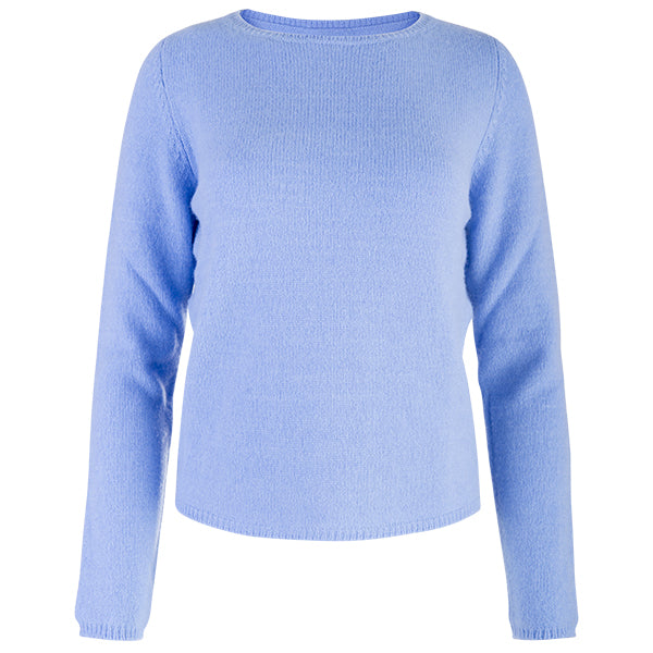 Crewneck Long Sleeve Pullover in Periwinkle