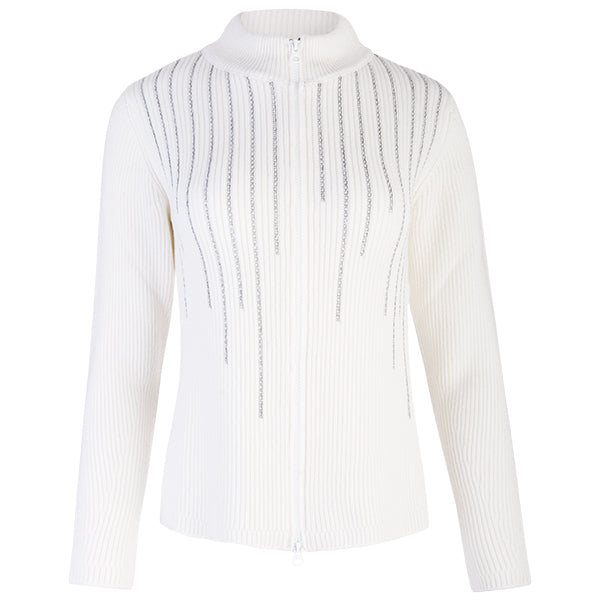 73fdcad3 Cashmere Lurex Embellished Cardigan in White
