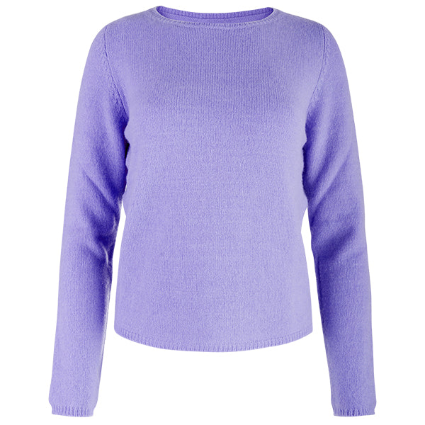 Crewneck Long Sleeve Pullover in Lavender