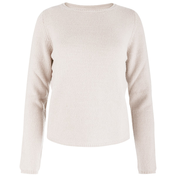 Crewneck Long Sleeve Pullover in Oatmeal