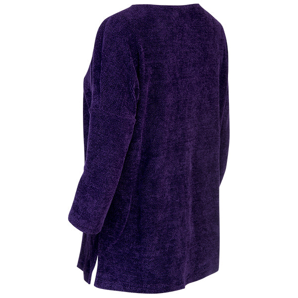 Boatneck Tunic Tee in Eggplant