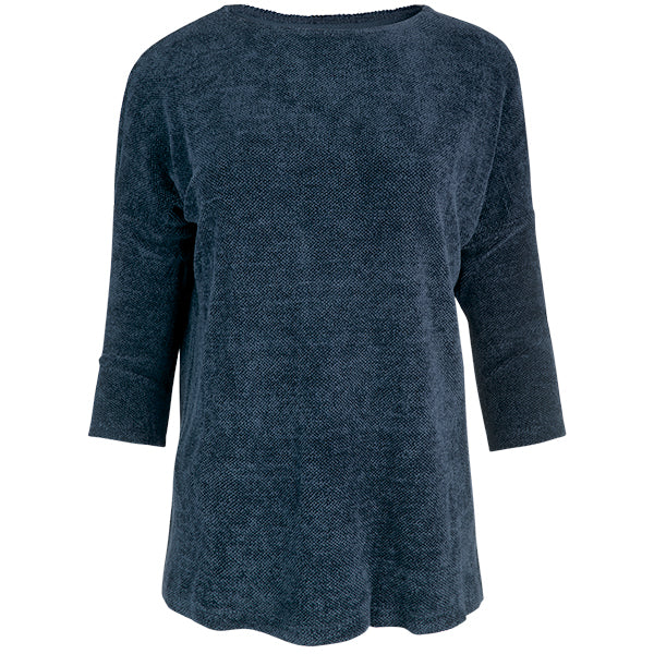 Boatneck Tunic Tee in Dark Teal