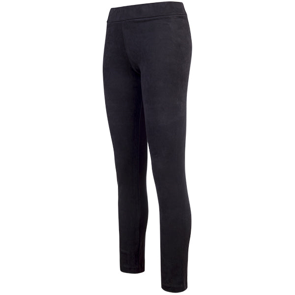 Sueded Pull On Pant in Black