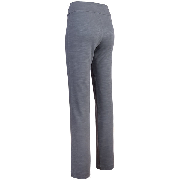 Cigarette-Leg Fiammato Pant in Medium Grey Melange