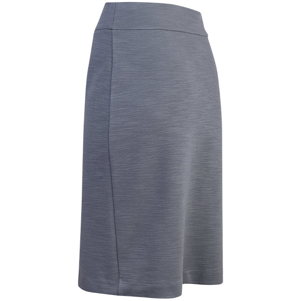 Viscose Knit Pencil Skirt in Medium Grey Melange