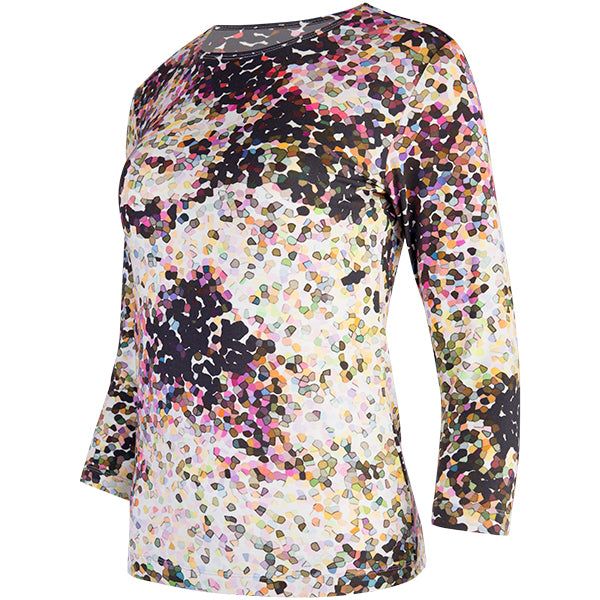 Shaped Knit Tee in Confetti Craze